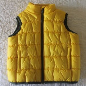 6 Months Yellow Puffy Vest Boys Kids Carter's Camo